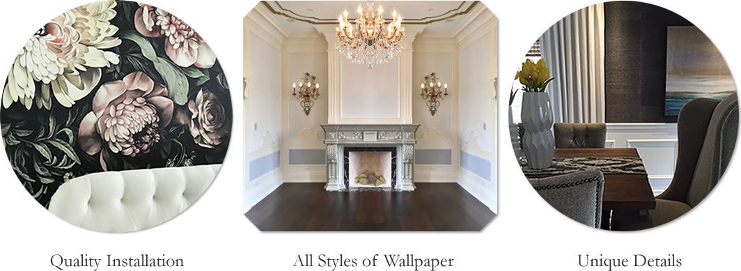 Install and Hang Wallpaper service areas include Mississauga, Burlington, Etobicoke, Woodbridge, Vaughan, Richmond Hill, York ...